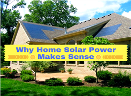 Image illustrating home solar power – with thin-film solar cells