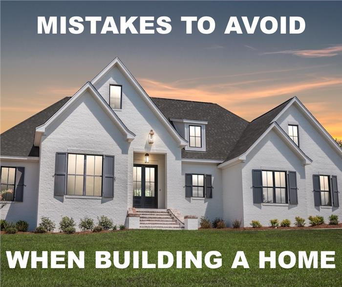 Contemporary transitional home illustrating article on mistakes to avoid when building a new house