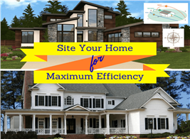 Montage of 4 images illustrating article on siting a home