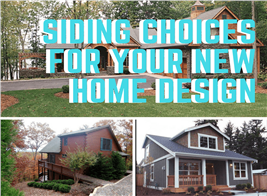 Montage of 3 photographs illustrating article on house siding