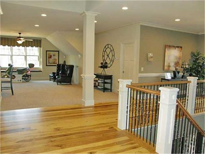 Upstairs in a 6-bedroom Traditional home (#163-1047) illustrating article on the bonus room