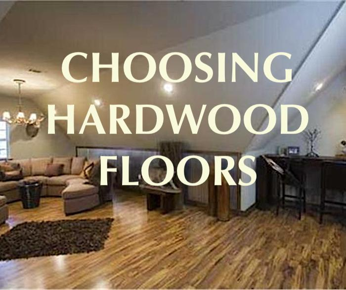 Large bonus room with wood floor illustrating article about choosing hardwood floors