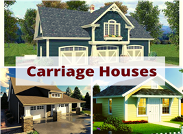 3 small homes illustrating article about carriage houses