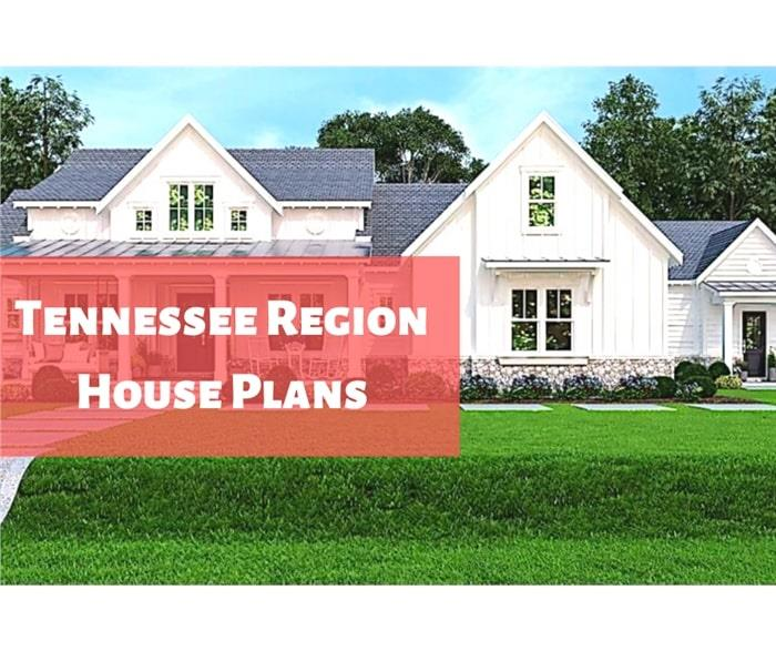 Transitional Farmhouse style home illustrating article about Tennessee House Plans