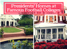 Montage of 2 photos illustrating SEC University Presidents' Homes