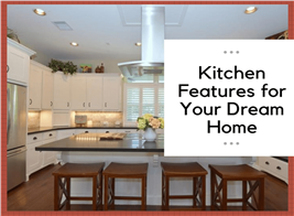 A modern kitchen illustrating an article on features to consider for a new kitchen