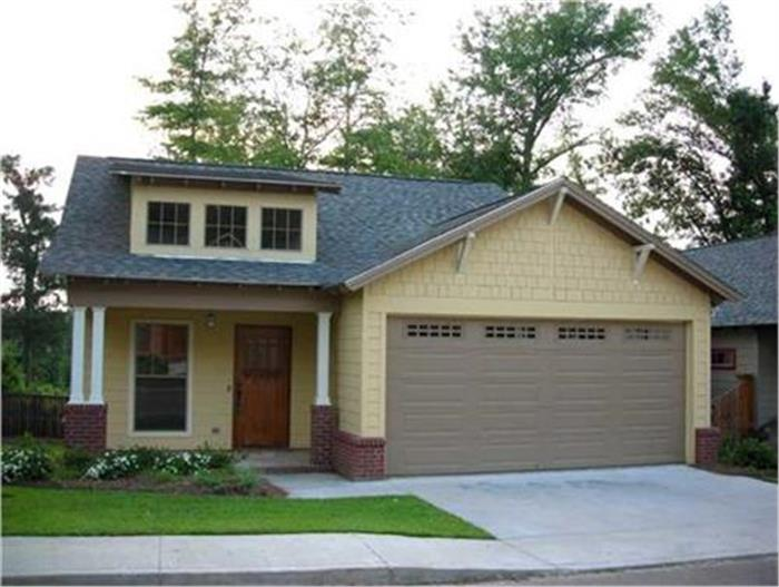 Example of a spec bungalow home