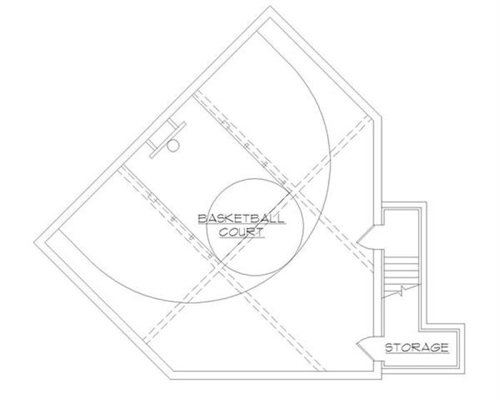 Building a home plan with an indoor basketball court for Home plans with indoor basketball court
