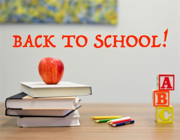 "School books and supplies illustrating article on ""back to school"""