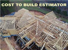 house under construction illustrating article about cost-to-build estimating software