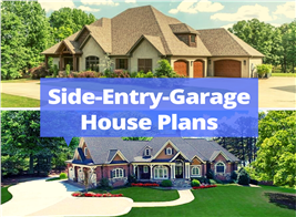 two home with side-facing garages illustrating article about side-entry garages