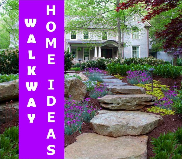 Image depicting a rural home walkway