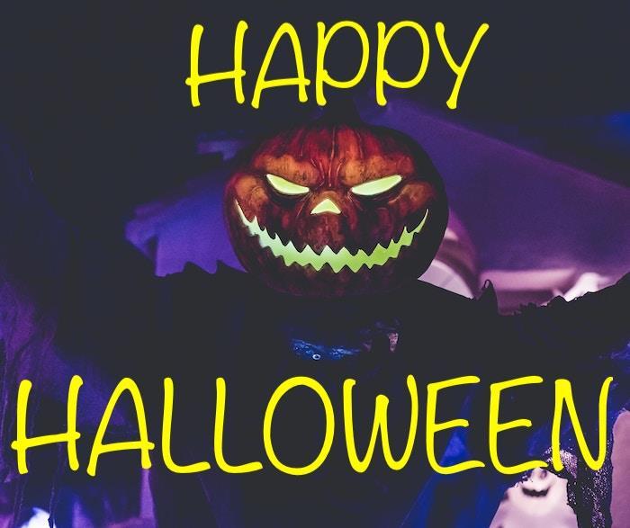 Scary Jack-o-lantern illustrating article on Halloween decorating