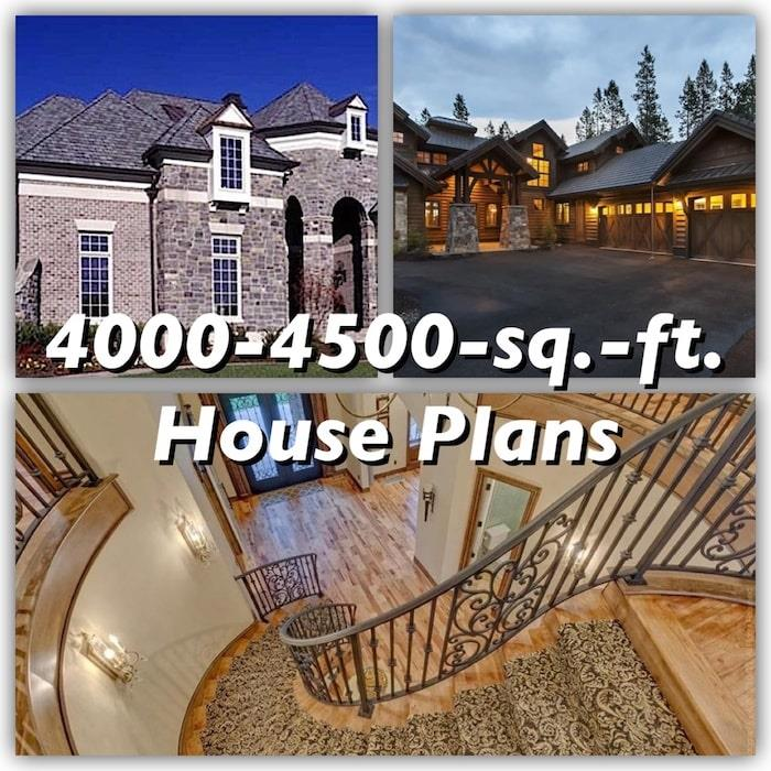 4000 To 4500 Square Foot House Plans Luxury With Style
