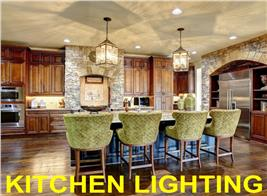 Photograph of well-lit kitchen illustrating article on kitchen lighting