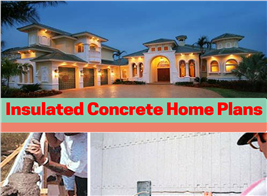 Montage of 3 photos illustrating Insulated Concrete Form Construction