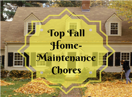 Lead image of home in autumn for Fall Maintenance article