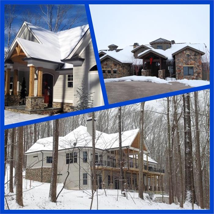 Collage of winter homes after being winter-proofed
