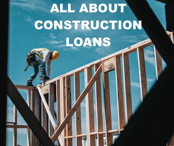 Framer working on a house illustrating article about construction loans