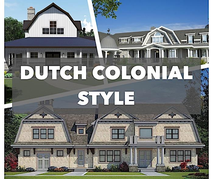 3 photos of home illustrating article about Dutch Colonial architectural style
