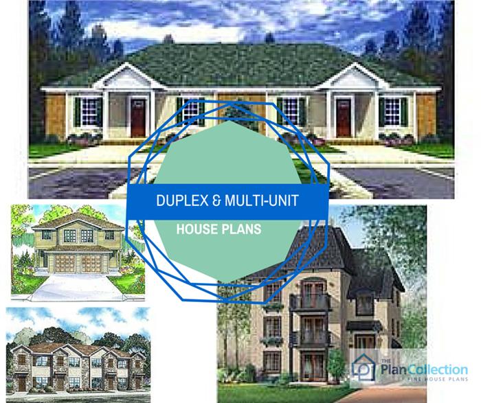 Duplex and Multi-Unit House Plans