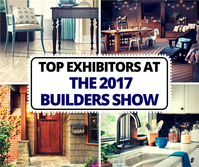 Montage of 4 photos illustrating the 2017 International Builders Show