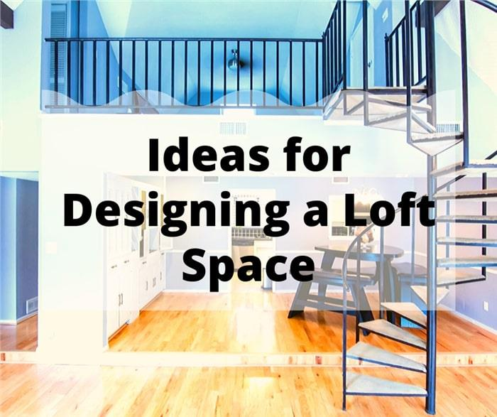 Loft space with spiral stairs illustrating article on loft design ideas