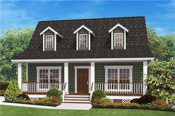 Small House Plan In The Ranch Style That Maximizes E With 3 Bedrooms And 2 Baths