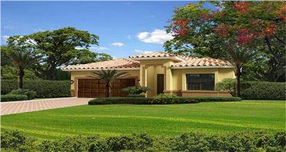 Home in the Floria style of architecture with its Mediterranean and Spanish influences, generous outdoor living spaces.