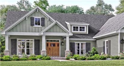 3-bedroom home in the country style of architecture including front porch, rustic finishes, and sensible comfort.