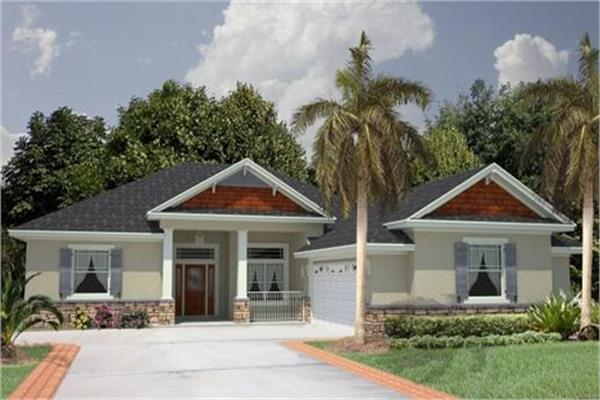 Lovely, Affordable Florida Style Home With Gables, One Level Living, 4  Bedrooms And