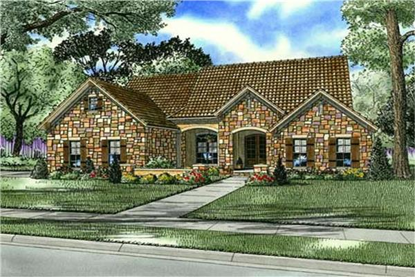 Tuscan style house plans and homes the plan collection for Tuscan roof house plans