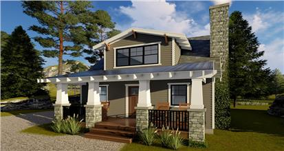 Stunning Bungalow style design has 1 bedroom, 1 bath, and a smart open layout inside.