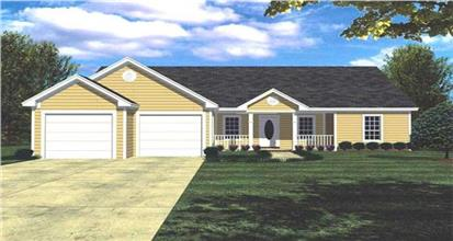 Smartly designed, affordable home design with one-story and 1400 square feet.