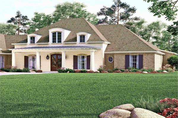 Home designed in the Acadian architectural style with its French country and Cajun influences.
