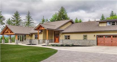 Home in the country ranch architectural style which is one of the most popular in the U.S.