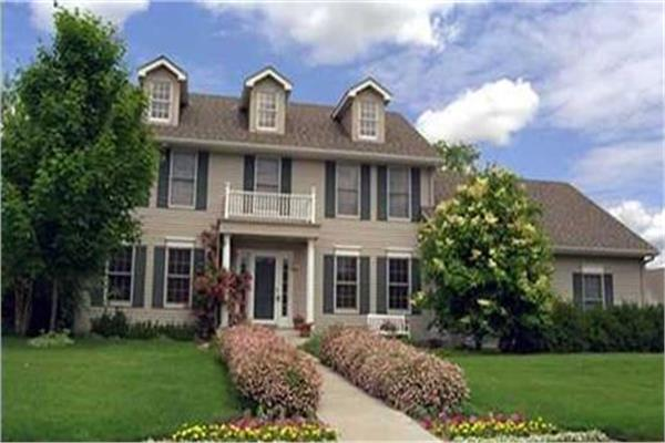 Colonial house plans designs the plan collection for Classic colonial home plans