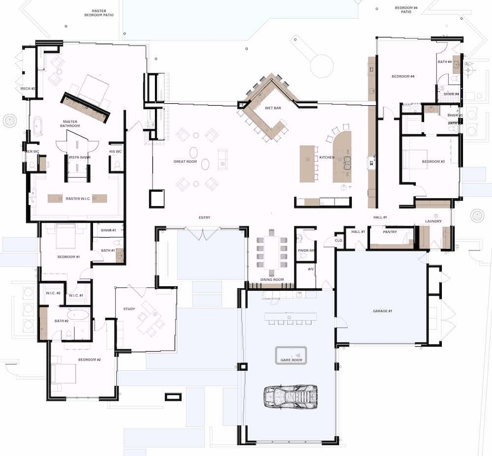 Floor plan of The New American Home 2019