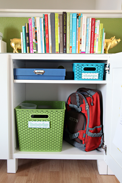 Storing backpacks and bulky items in their own cubbies