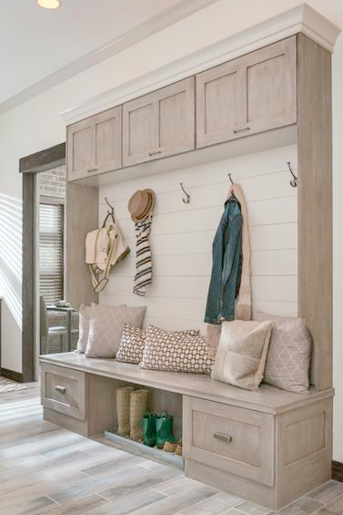 Mudroom storage/organization cabinetry