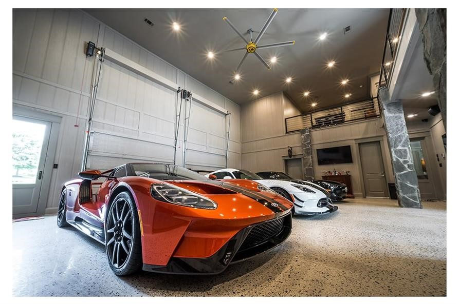 Oversize luxury garage woth room for 3 or more cars and work space