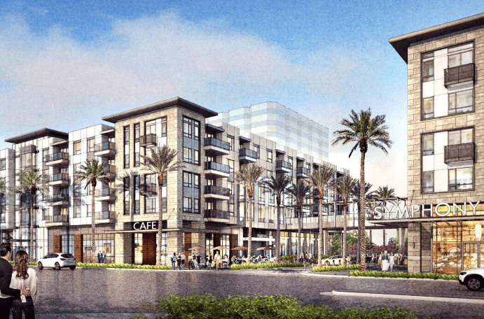Symphony, a large mixed-use project in Costa Mesa, CA