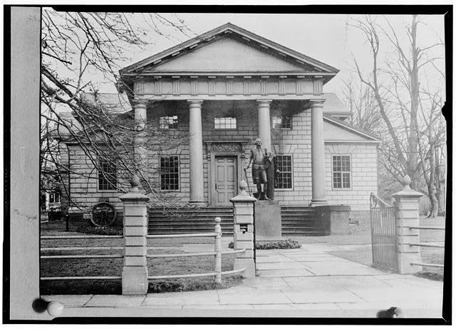 Redwood Library in Newport, RI, designed by Peter Harrison