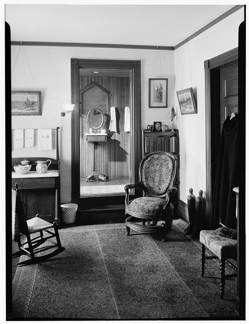 Second floor dressing room at Sagamore Hill