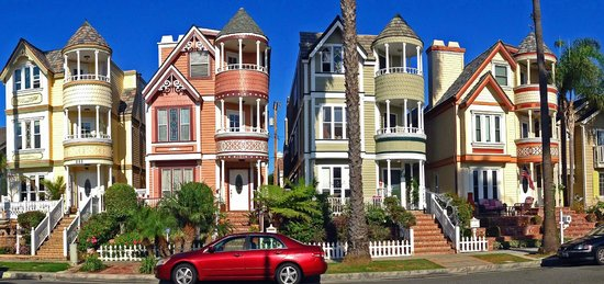 Elaborate Painted Ladies in San Francisco