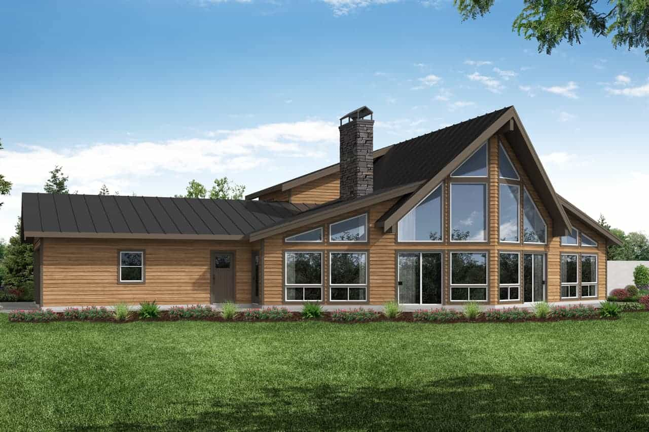 energy efficient - passive solar home with vaulted space and windows