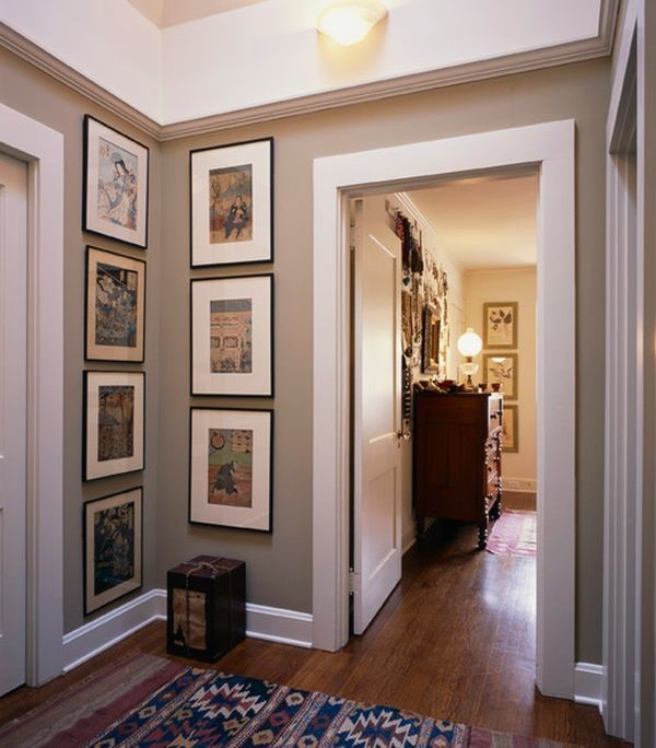 Display space for framed photos and art