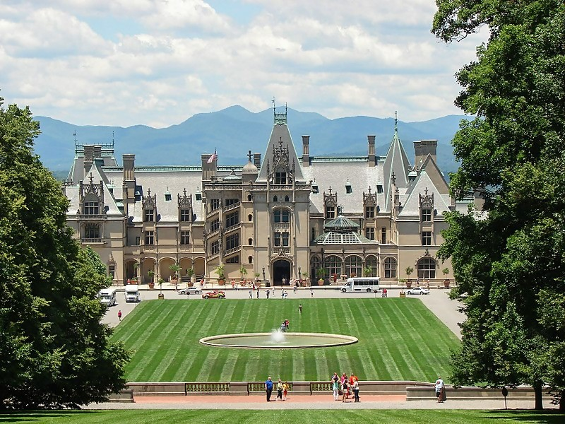 Biltmore Estate in Asheville, NC, designed to resemble a French chateau