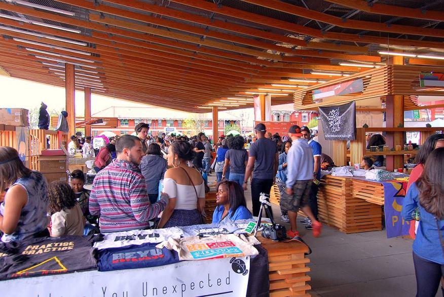 Open-air marketplace at St. Elizabet's East Gateway Pavilion, Washington, DC