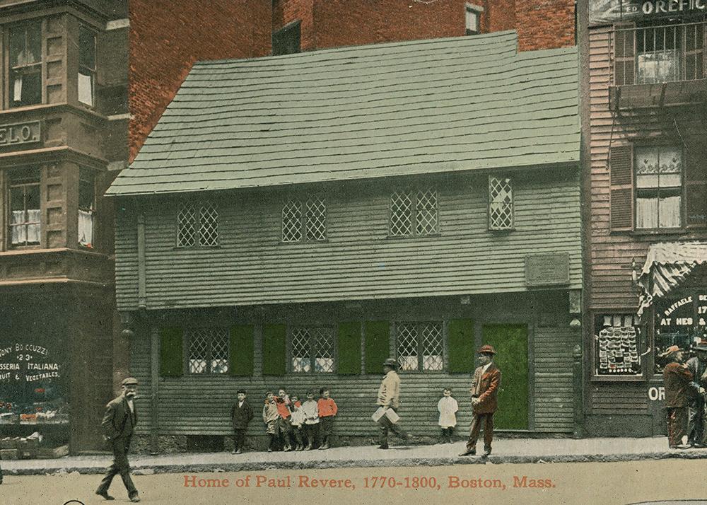 Paul Revere House after 1908 restoration